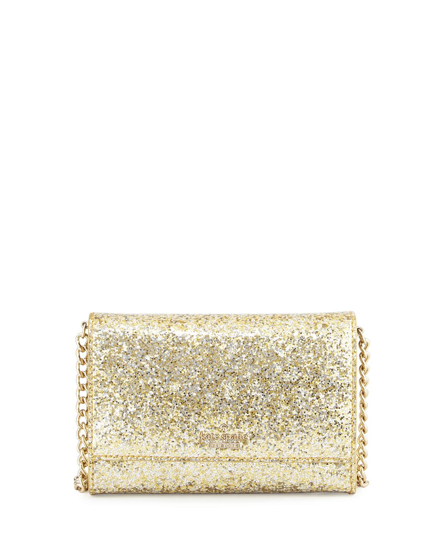 5e1974126 kate spade new york glitter bug cami crossbody bag, gold/silver ...
