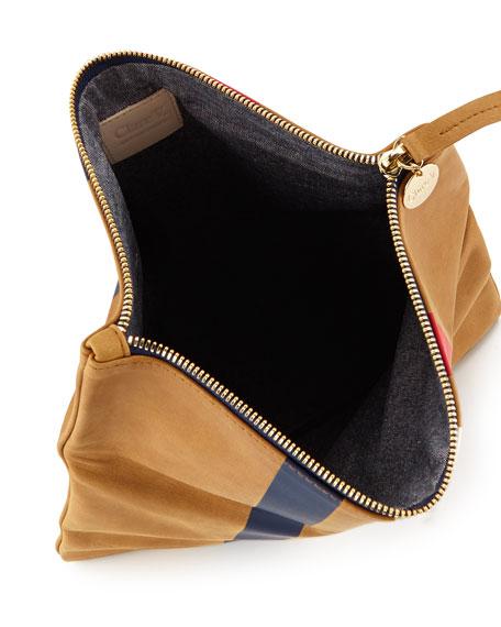 Supreme Striped Fold-Over Clutch Bag