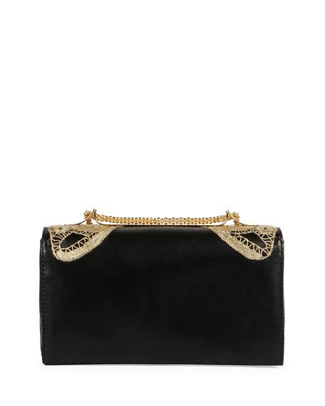 Va Va Voom Butterfly Shoulder Bag, Black/Gold
