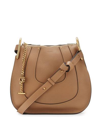 Hayley Small Hobo Bag, Nut
