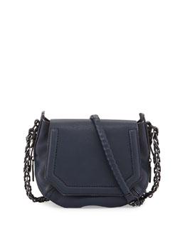 Bradbury Mini Flap-Top Crossbody Bag, Navy