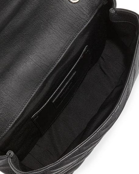 Monogram College Medium Punk Chains Shoulder Bag, Black