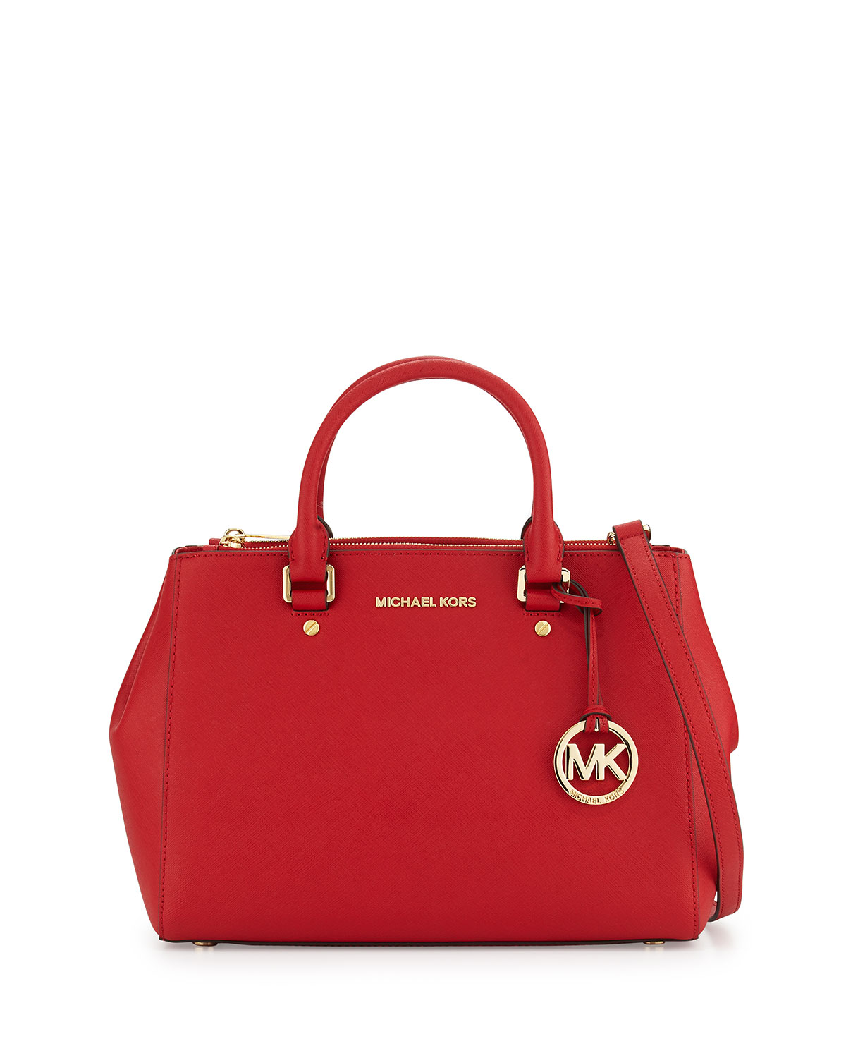 f81e983b3e20 MICHAEL Michael Kors Sutton Medium Saffiano Satchel Bag, Chili ...