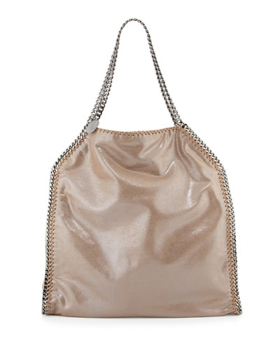 Falabella North-South Shimmery Tote Bag, Redwood