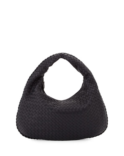 Veneta Medium Hobo Bag, Dark Navy