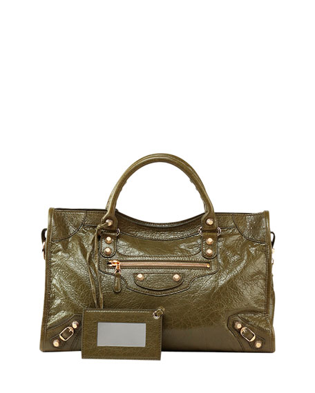 Balenciaga Giant 12 Golden City Bag, Olive Green
