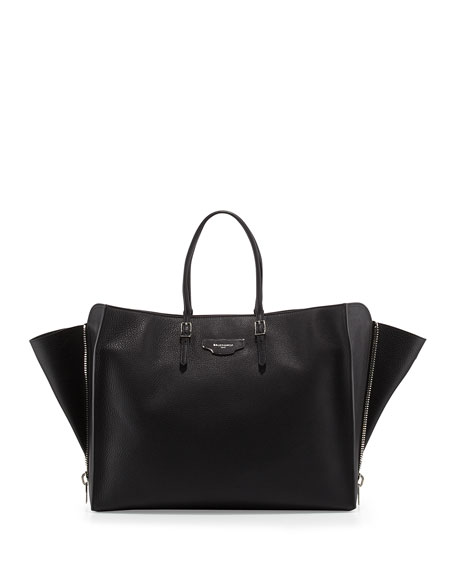 Papier Large Zip-Around Tote Bag, Black