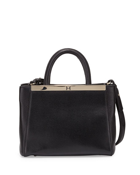 Halston Heritage Mini Satchel Bag, Black