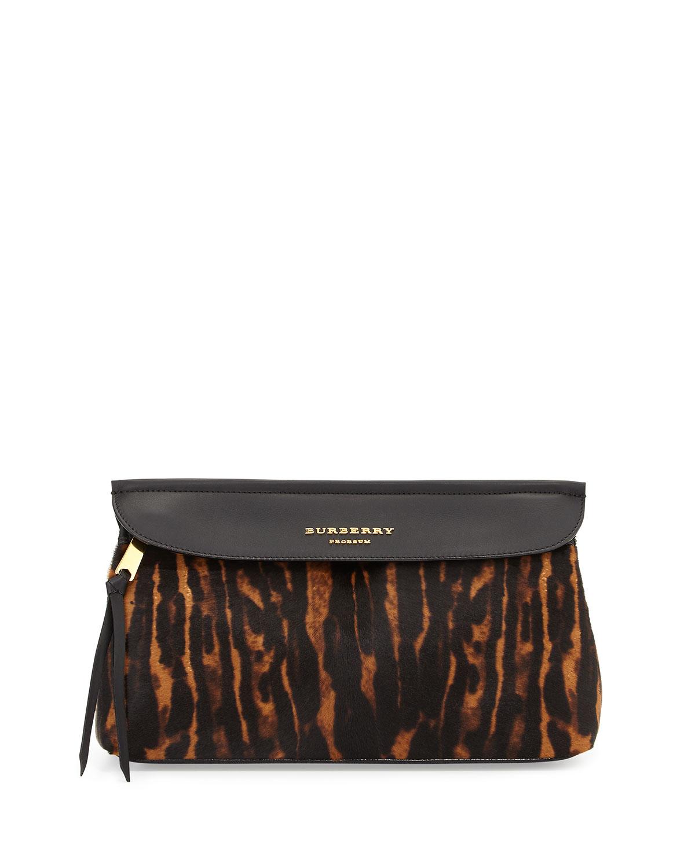 Burberry Prorsum Animal-Print Calf Hair Clutch Bag e86b6eab3ee16