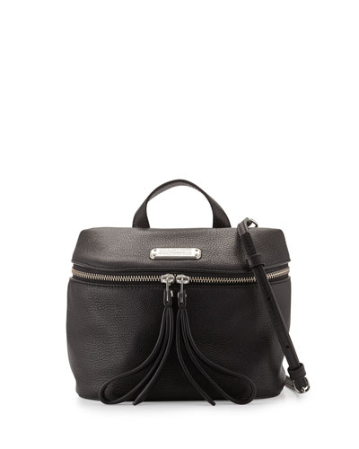 Canteen Leather Satchel Bag, Black