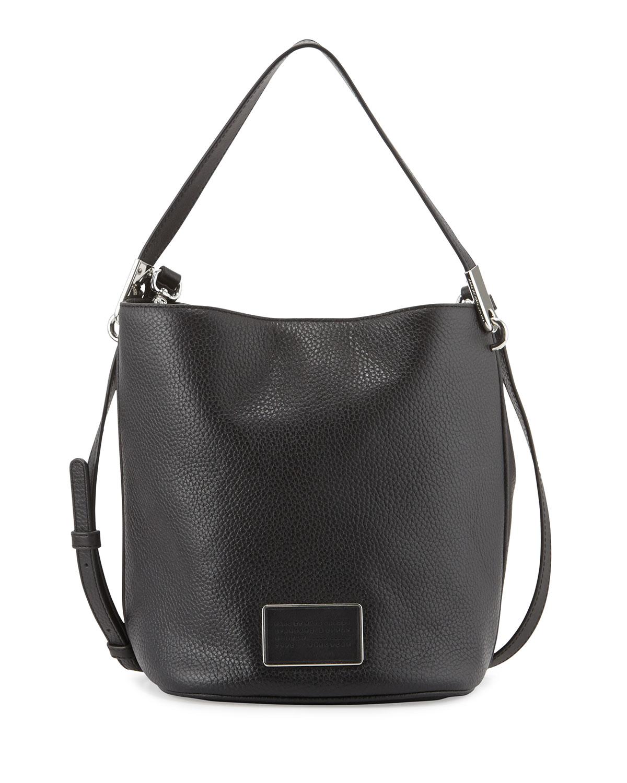 Ligero Leather Bucket Bag Black