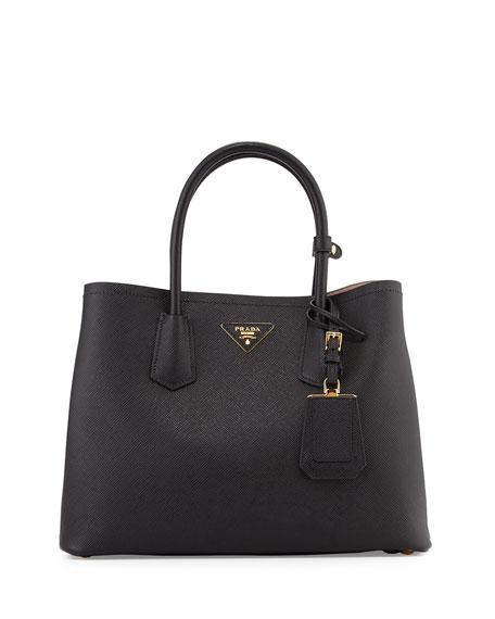 Saffiano East-West Medium Tote Bag, Black (Nero)