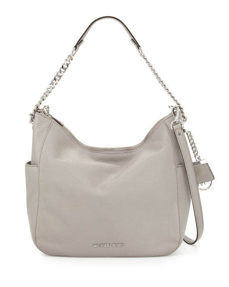 Michael Kors Chandler Large Convertible Shoulder Bag Pearl Gray Neiman Marcus