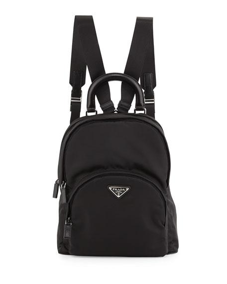 shop prada handbags online - Prada Nylon Medium Dome Backpack, Black (Nero)