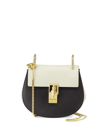 Chloe Drew Small Shoulder Bag, Black/Gray