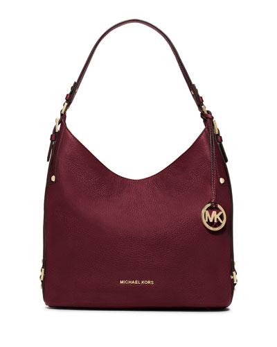 Bedford Large Belted Shoulder Bag, Merlot