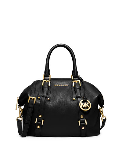Bedford Belted Medium Satchel Bag, Black