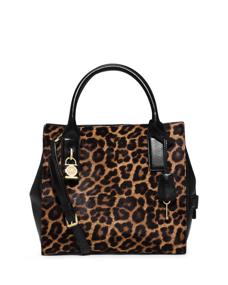 Michael Kors Mckenna Cheetah Print Calf Hair Medium Satchel Bag Neiman Marcus