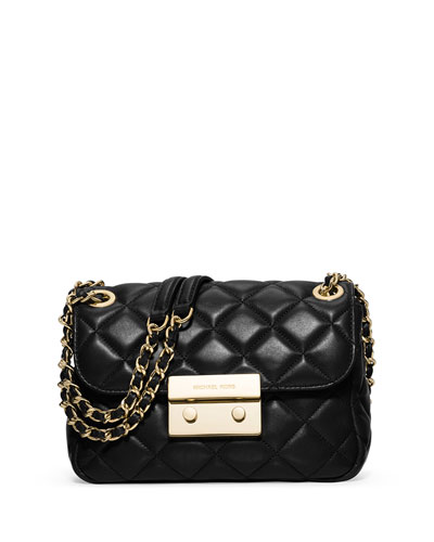 Sloan Small Chain Shoulder Bag, Black
