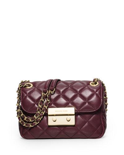 Sloan Small Chain Shoulder Bag, Merlot