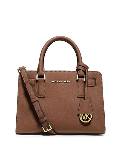 Dillon Small Saffiano Satchel Bag, Luggage