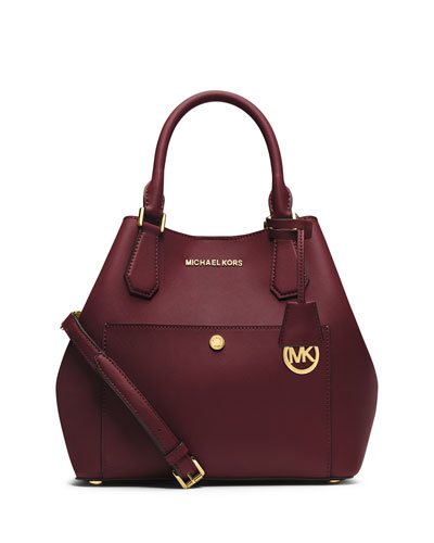 Greenwich Large Grab Bag, Merlot/Black