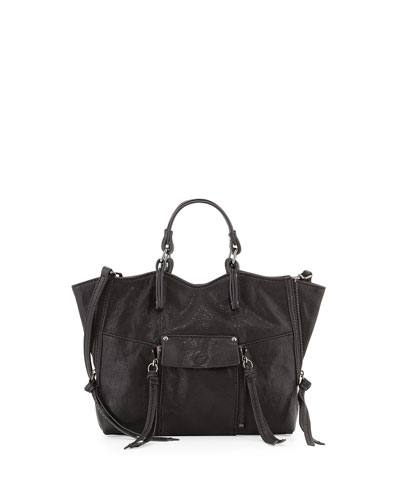 Everette Mini Leather Crossbody Bag, Black