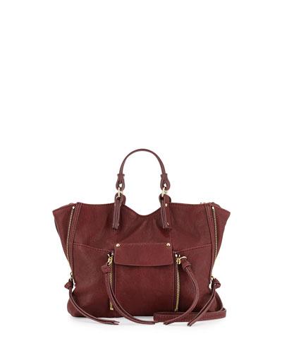 Everette Mini Crossbody Bag, Burgundy