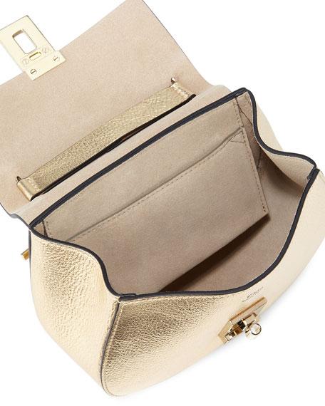 Drew Mini Shoulder Bag, Gold