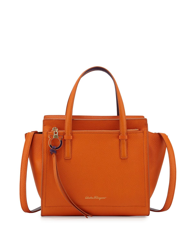 87f30b0abb59 Salvatore Ferragamo Amy Small Gancio Leather Tote Bag