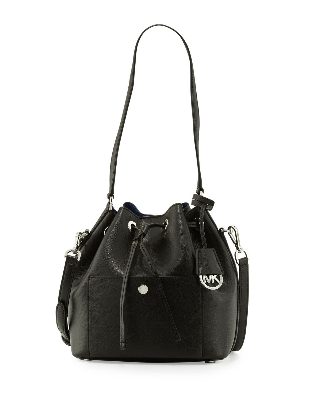 beed33844ba6b6 MICHAEL Michael Kors Greenwich Medium Bucket Bag, Black/Blue ...