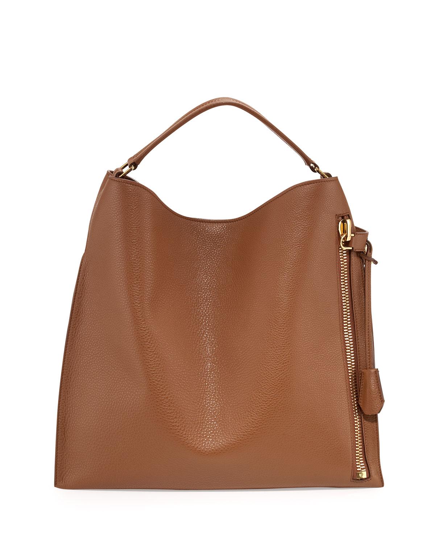 5b101f5933b0 TOM FORD Alix Large Leather Hobo Bag