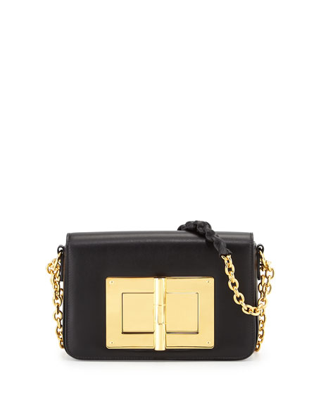 TOM FORD Natalia Medium Chain Crossbody Bag, Black
