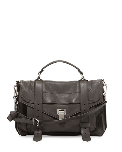 PS1 Medium Satchel Bag, Pepe Brown