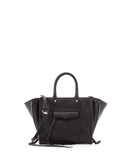 MAB Mini Leather Tote Bag, Black