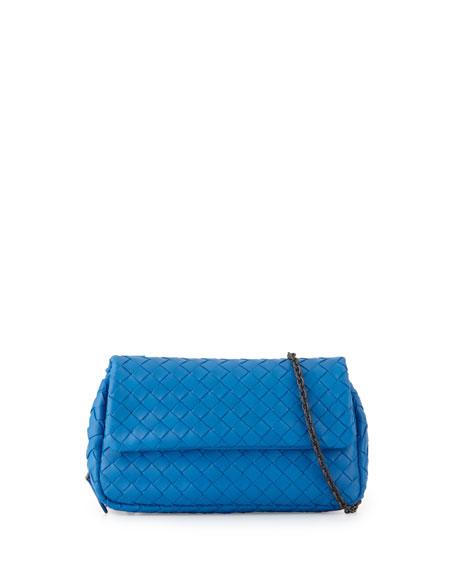 Bottega Veneta Intrecciato Small Crossbody Bag, Cobalt
