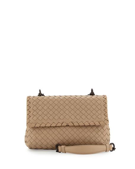 Bottega Veneta Baby Olimpia Intrecciato Shoulder Bag, Open