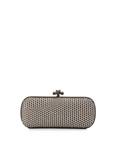 Bottega Veneta Small Stretch Knot Clutch Bag, Off