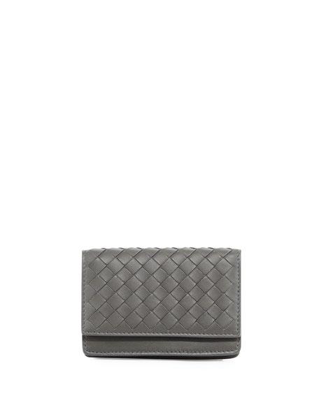 Bottega Veneta Woven Flap Credit Card Case