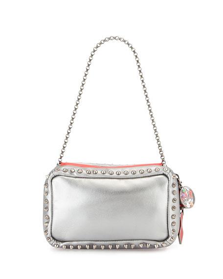 Christian Louboutin Piloutin Metallic Napa Chain Pochette Bag,