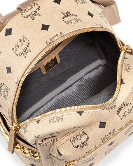 Stark Side Stud Mini Backpack, Beige