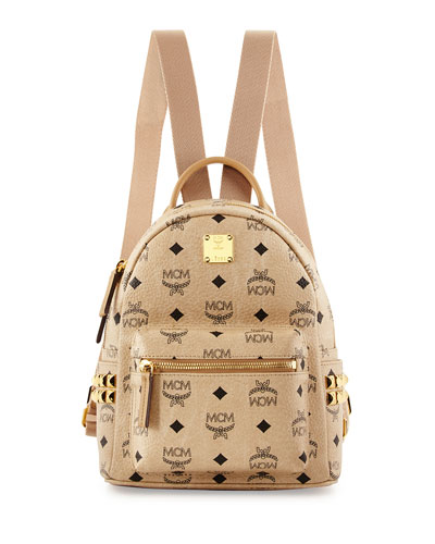 Stark Visetos Mini Backpack, Beige