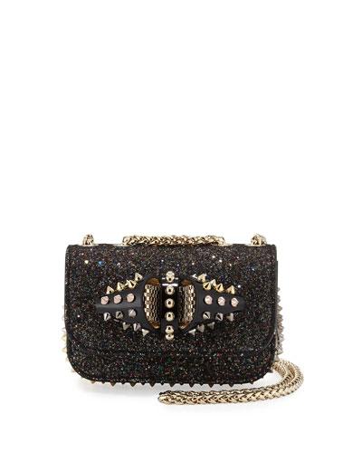 Sweety Charity Glitter Crossbody Bag, Multi Black/Gold