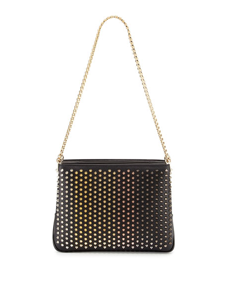 Christian Louboutin Triloubi Large Triple-Gusset Spiked Shoulder