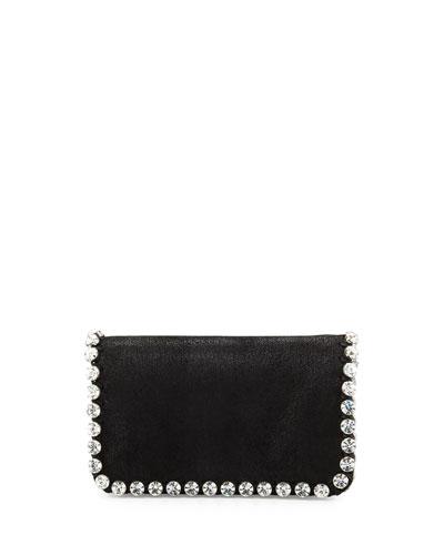 Falabella Rhinestone-Trim Crossbody Bag, Black