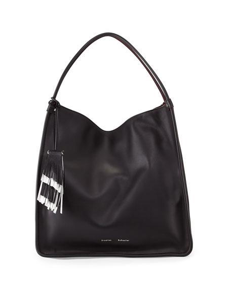 Proenza Schouler Large Soft Calfskin Tote Bag, Black