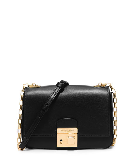 Michael Kors Collection Gia Small Chain-Strap Flap Bag, Black