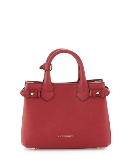 Burberry Banner Small House Check Derby Tote Bag Russet