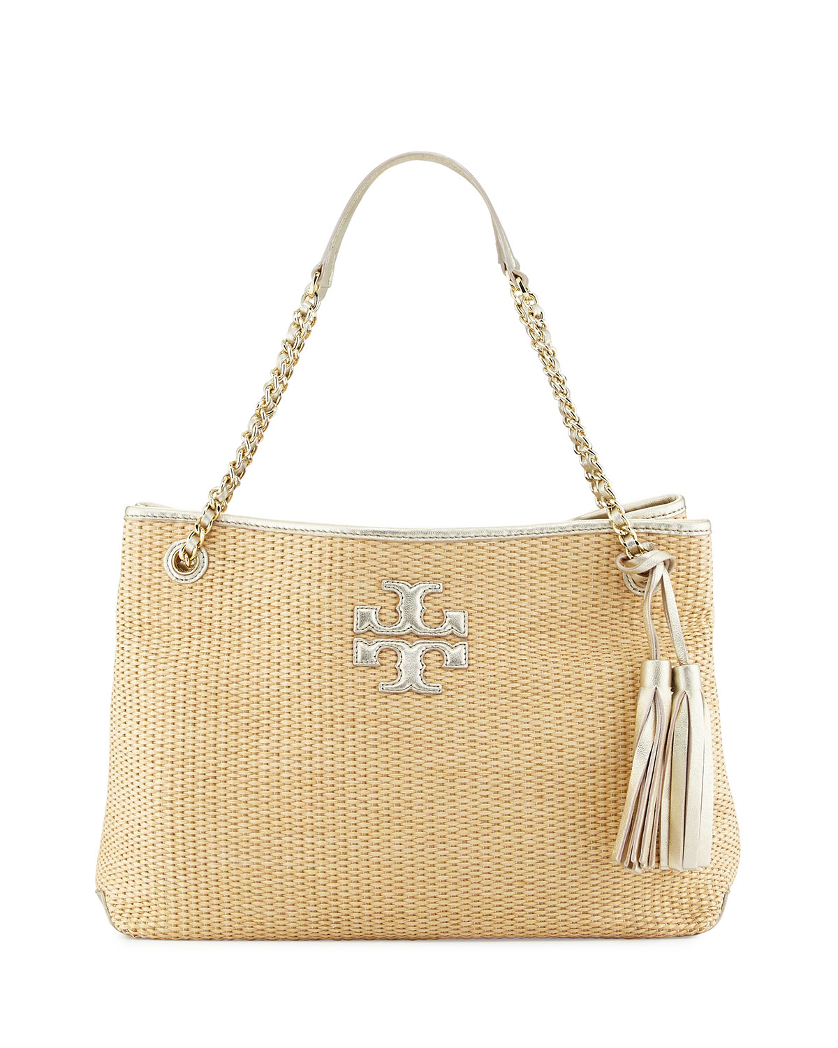 da42c3cd9be Tory Burch Thea Straw Slouchy Tote Bag, Natural | Neiman Marcus
