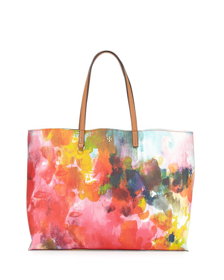 Image 1 of 3: Kerrington Watercolor Floral Tote Bag